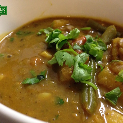 Blackened Curry Vegetable Soup