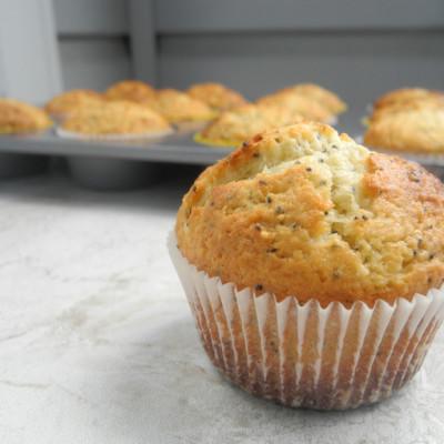 Almond Lemon Poppy Seed Muffins