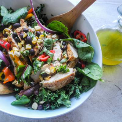 Mexican Chicken Salad with Jalapeño Lime Vinaigrette