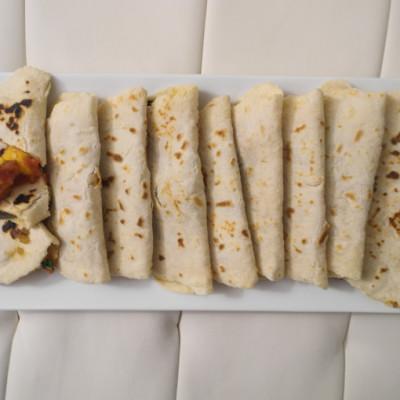 Shrimp Quesadillas with Mango Salsa