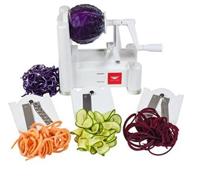 Paderno-World-Cuisine-A4982799-Tri-Blade-Plastic-Spiral-Vegetable-Slicer-0