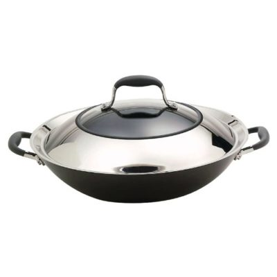Anolon-Advanced-Hard-Anodized-Nonstick-14-Inch-Covered-Wok-with-Combo-Stainless-Steel-Glass-Lid-0