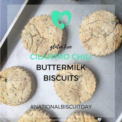 Gluten Free Cilantro Chili Buttermilk Biscuits