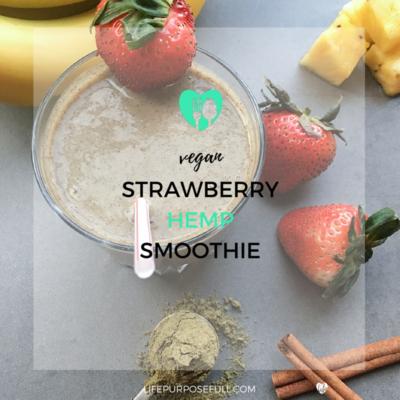 Vegan Strawberry Hemp Smoothie