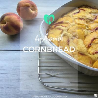 Fresh Peach Cornbread