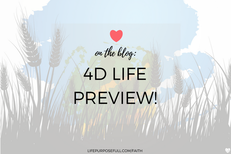 4D LIFE BOOK LAUNCHING OCTOBER 3RD!